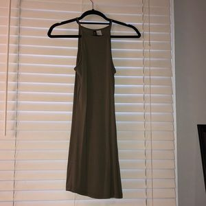 H&M olive cami square top dress. NWOT. Never worn.